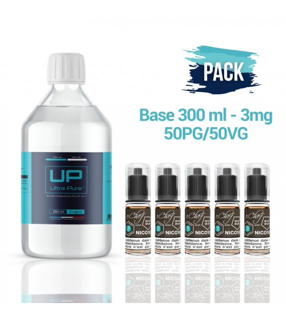 Pack Base UP 300 ml 50PG/50VG - 3mg