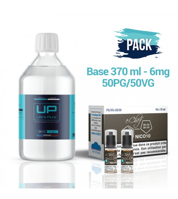 Pack Base UP 370 ml 50PG/50VG - 6mg